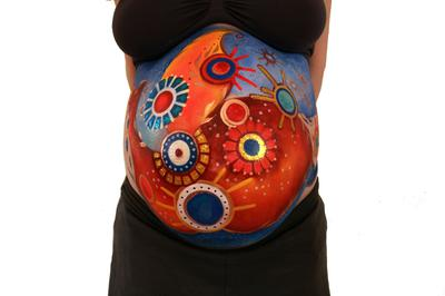Pregnancy belly painting (click on the smaller images to enlarge)