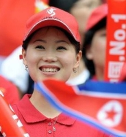 North Korean football fan