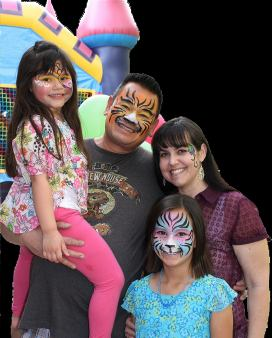 Family face painting (Click on smaller images to enlarge)