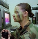 Camoflage face painting designs