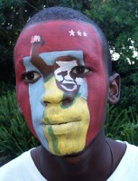 Face Painting by Duncan Stewart (football fan face)