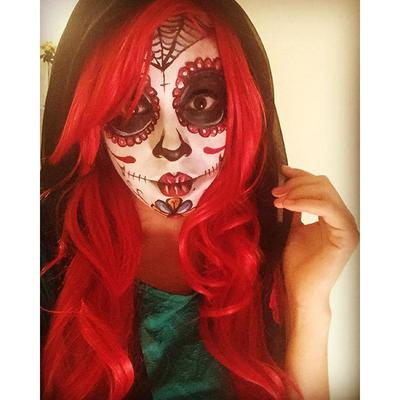 Dia de los Muertos face paint by Princesscharmingparties.com