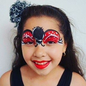 Ladybug face paint by princesscharmingparties.com