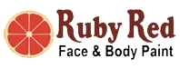 Ruby Red face and body paint logo
