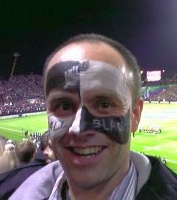 Rugby all black face paint