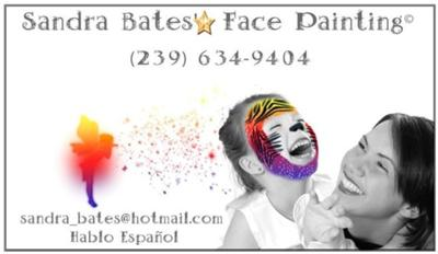 Sandra bates 39 face painting for Face painting business