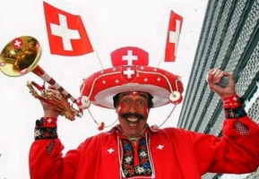 Swiss soccer crazy fan