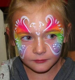 Small Butterfly Face Paint