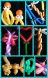Balloon Twisting (Click on the smaller images to enlarge)