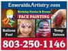 EmeraldsArtistry.com 803-250-1146 - Face Painter in Columbia sc