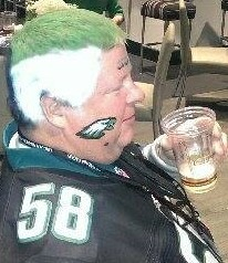 Airbrush Hair Art Football Helmet Face Paint Philadelphia Eagles