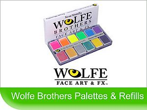 Click to Buy Wolfe Art & FX face paint palettes and refills