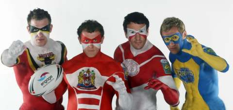 Rugby body painting by Carolyn Roper
