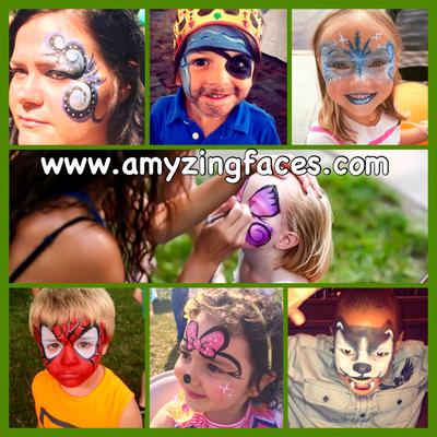 Face Painting (Click on smaller images to enlarge)