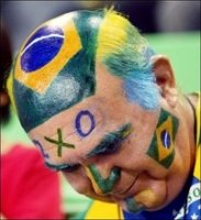 Brazilian crazy soccer fan