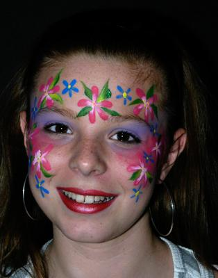 Flowery face
