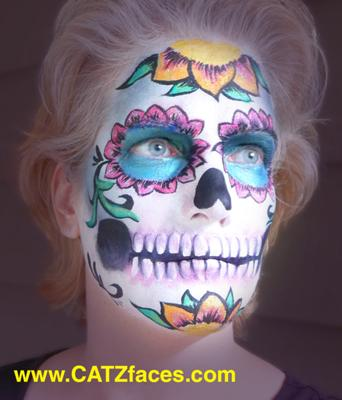 Sugar Skull on the artist (click on smaller pics to Enlarge)