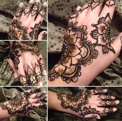 Henna art (Click on smaller images to Enlarge)