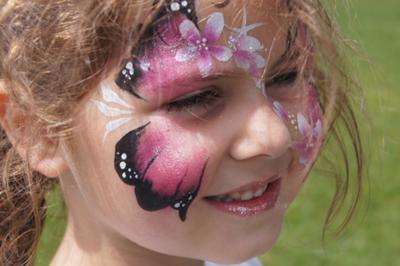 Childrens face painting (Click smaller images to Enlarge)