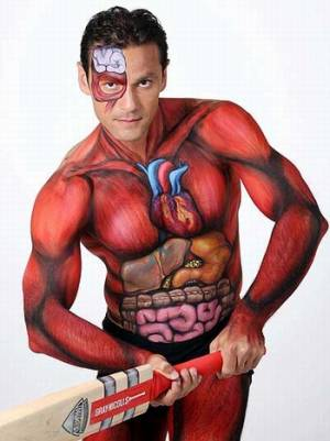 cricket body painting