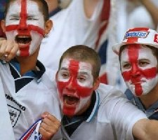 England fans faces