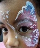 Face painted butterfly