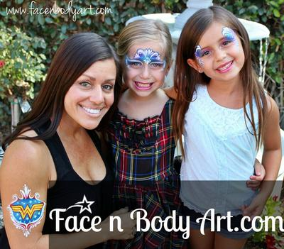 Birthday Party face painting (Click on smaller images to Enlarge)