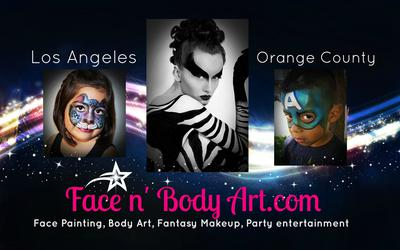 Los Angeles body painters (Click on smaller images to Enlarge)