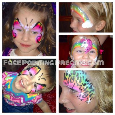 Face Painting (Click on the smaller images to Enlarge)