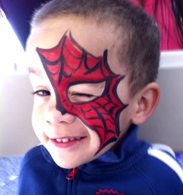 Spiderman face art (click on the smaller images to Enlarge)