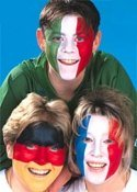 Germany Italy France face painting