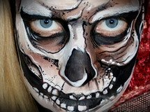 Lynne Jamieson's horror face painting design