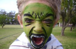hulk face painting design