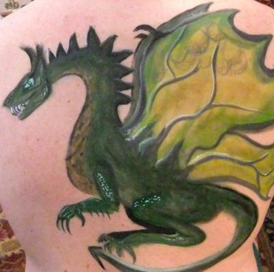 Dragon Body art