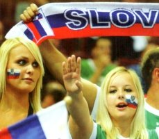 Slovenia beautiful football fans