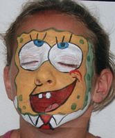 kids spongebob face painting