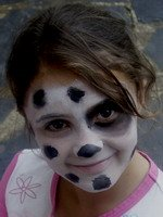 spotty dog face painting design