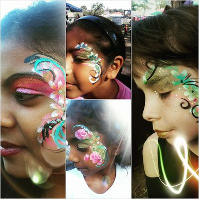 Face Painting (Clink on smaller images to Enlarge)