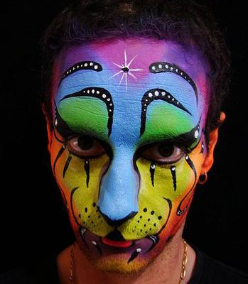 Man Face painting