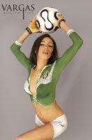 Soccer body painting by Vargas