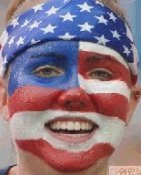 USA face painting