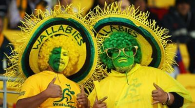 Wallabies rugby fans
